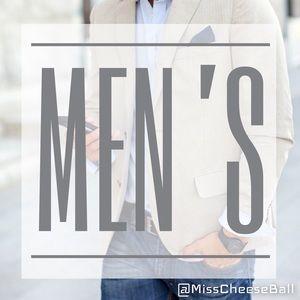 Men's Clothing Below